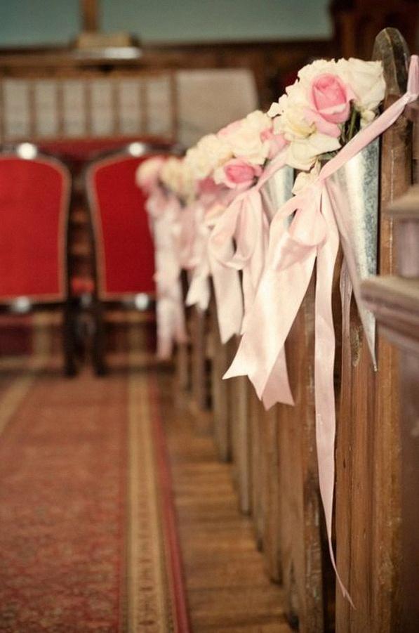 décoration bancs église