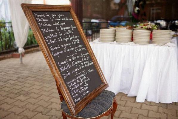 menu de mariage ardoise