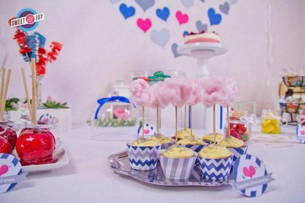 sweet table fête foraine vintage