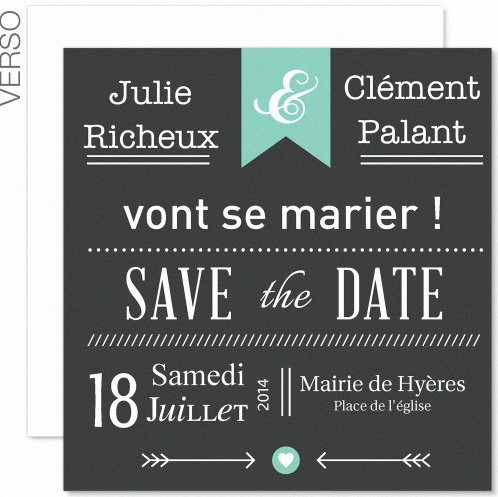 un save the date pour un pacs. Black Bedroom Furniture Sets. Home Design Ideas