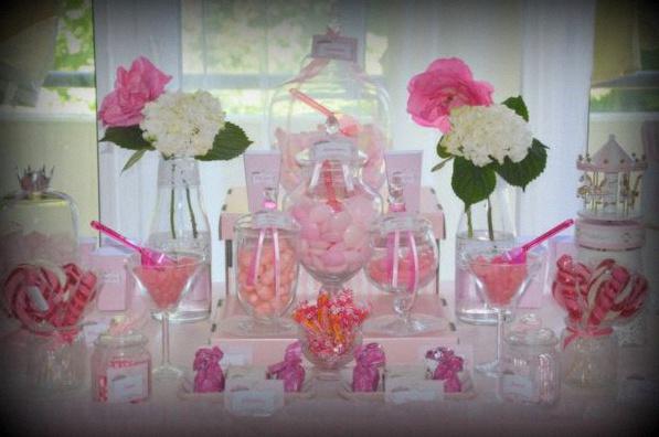 Le candy bar chic et poudr de layina en rose et blanc - Deco shabby chic pas cher ...