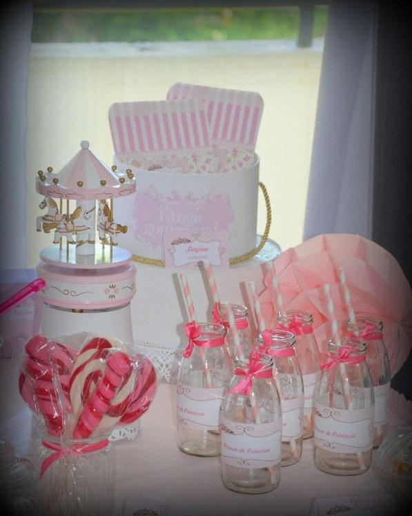 Le candy bar chic et poudré de Layina, en rose et blanc