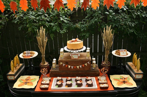 sweet table automne