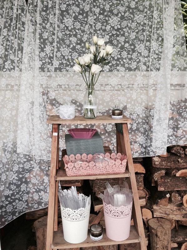 décoration rétro dentelle