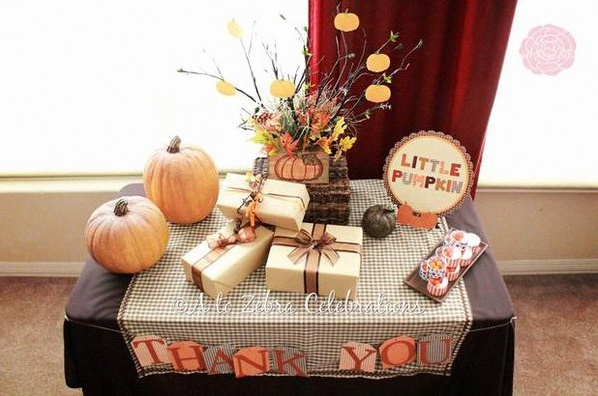 décoration automne sweet table automne