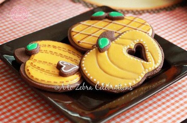 décoration automne sweet table automne sablés citrouille