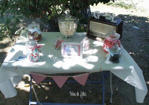 sweet table champêtre