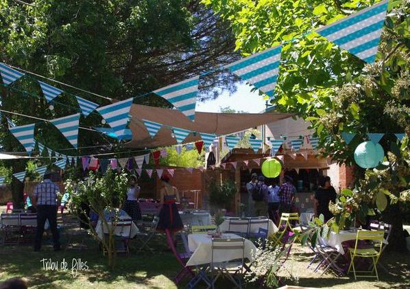 La Garden Party de Gaëlle et Loïc sur le thème Guinguette rétro