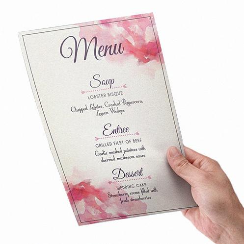 menu personnalisé mariage pacs