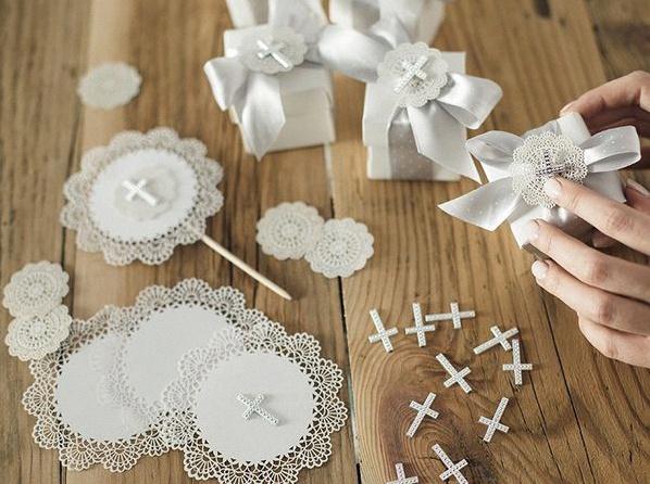 décoration de table dentelle