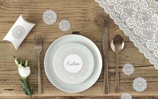 Inspirations décoration pour une table : Dentelle et boho