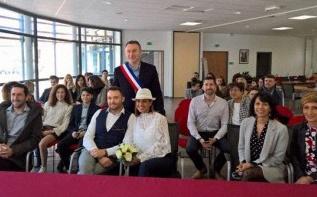 La cérémonie de Pacs à la mairie de Stéphanie et Nicolas
